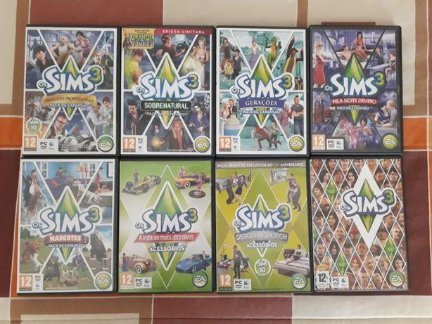 Jogos PC Sims 3, Jogo de base, Packs de Expansão e Acessórios