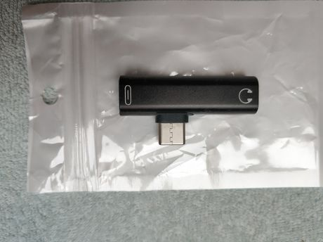Adapter USB-C Mini-Jack j. BASEUS czarny Samsung Huawei LG