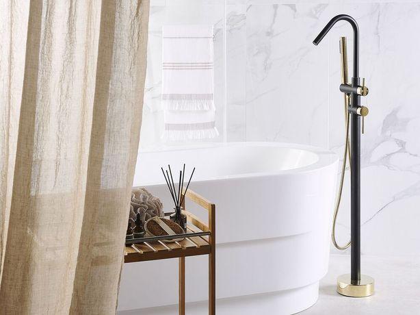 Torneira de banho autónoma preta e dourada VICTORIA - Beliani