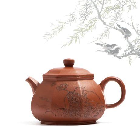 """Чайник Китайский. Исинская глина. Заварник. Форма """"Пан Ху"""""""