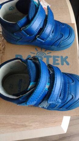 Buty dziecięce Bartek trzewiki chłopięce na rzepy rozm 22 niebieskie