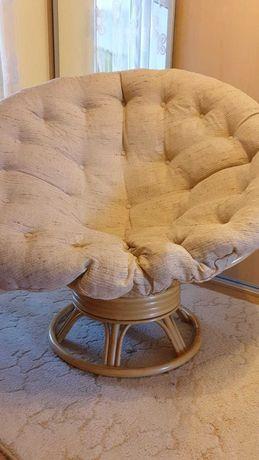 Fotel ratanowy papasan obrotowy