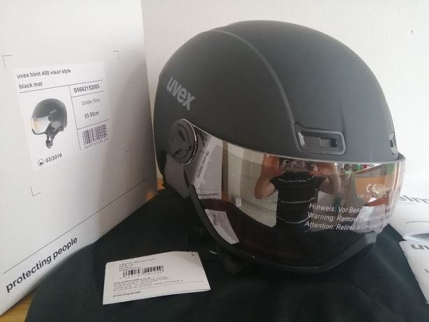 UVEX kask narciarski hlmt 400 Visor Style Black Mat M 53-58 cm
