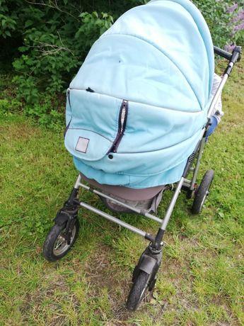 Wózek 2w1 niebieski