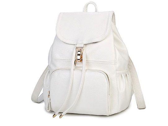 Рюкзак женский кожаный белый, новинка!