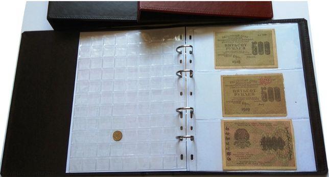 Альбом для монет и банкнот Elit наборной белые листы