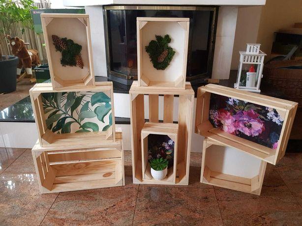 Drewniane skrzynki ozdobne