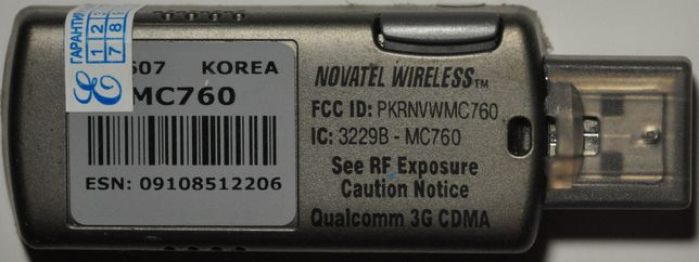 Модем спутниковый GPS Novatel MC760