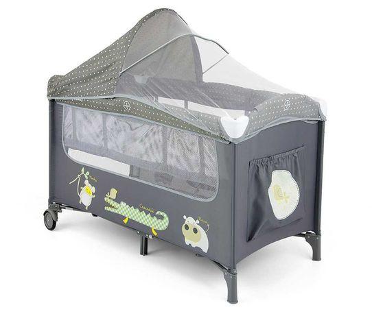 Łóżeczko turystyczne Milly Mally Mirage Deluxe Grey - szare