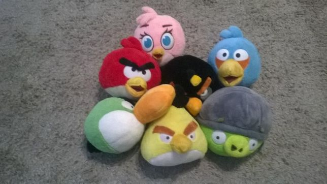 8 Peluches Angry Birds