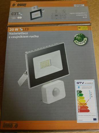 Naświetlacz LED 20W biały z czujnikiem ruchu