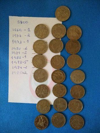 Moedas antigas de 5$00 ( 22)