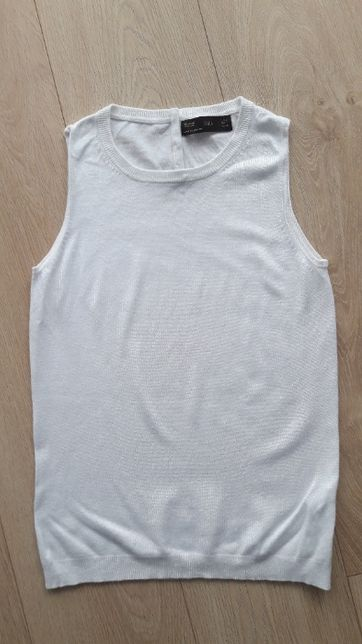 biały top bluzka dzianina ZARA S 36