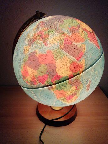 Globus Led lampka świecący podświetlany dróżnika edukacyjny geogeafia