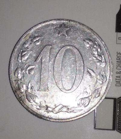 10 галеж 1953 року (10 haléř 1953) розмінна монета рідкість
