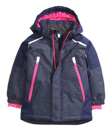 H&M kurtka zimowa narciarska roz 128 cieplutka