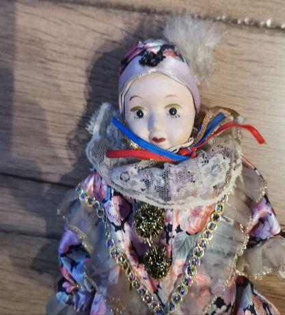 Harlekin, pajac lalka - porcelana