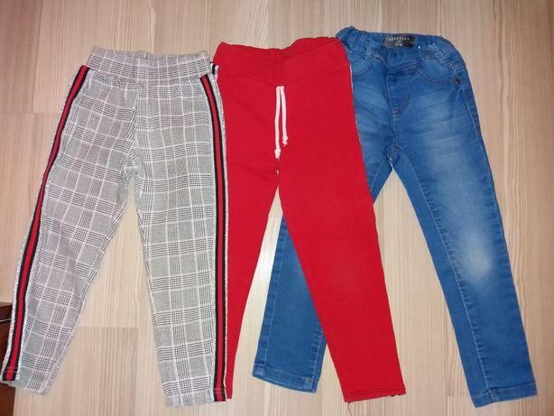 Spodnie dziewczęce  104/110