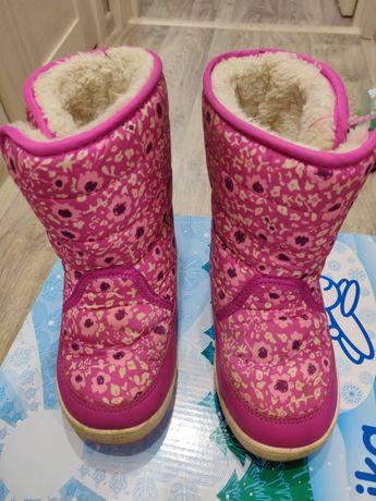 Сапоги для девочки 27 размер, цена 300 руб