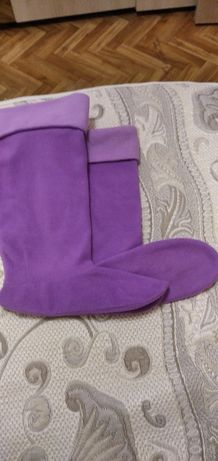 Флисовая вставка носки в сапоги.