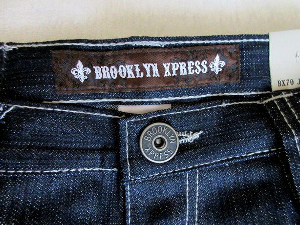 BAGGY Krótkie spodenki jeansowe 38 duże rozmiary Meskie Brooklyn