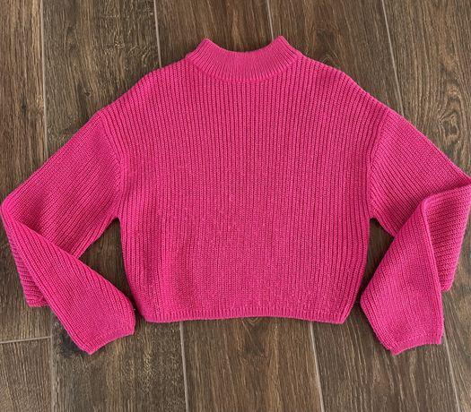 H&M amarantowy sweter XS - 164 BDB!