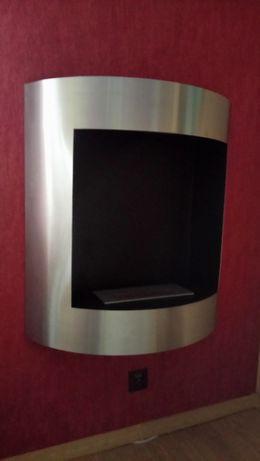 biokominek Lima szlifowane aluminium firmy kratki