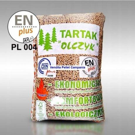 Pellet OLCZYK pelet drzewny sosnowy Tartak Olczyk WOREK 15 KG qt