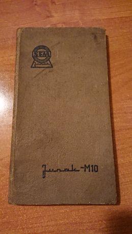 Junak M10 Instrukcja obsługi 1960