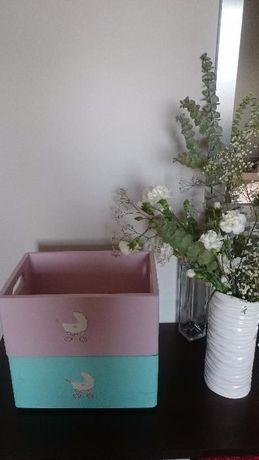 Skrzynki prezentowe z motywem wózka: na wesele, na chrzciny..
