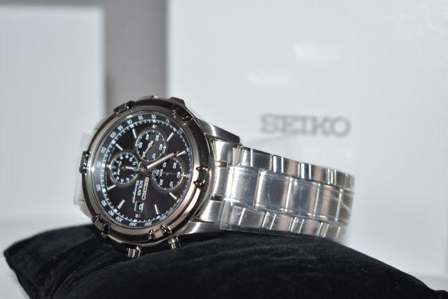 Zegarek męski Seiko Solar Chronograph - NOWY, Gwarancja