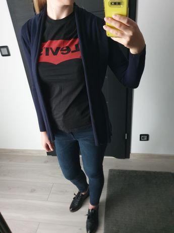 Zara kardigan sweterek S granatowy Nowy z metką