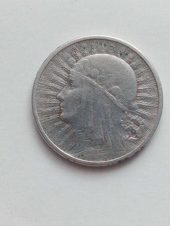Srebrna moneta 1933r głowa kobiety
