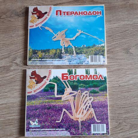 Сборная деревянная модель Богомол Птеранодон