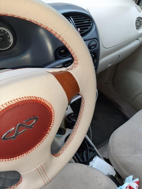Перетяжка руля,пошив чехлов авто