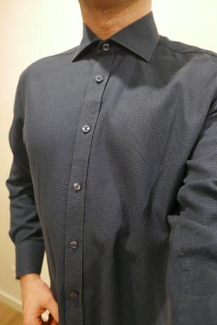 LAMBERT - Koszula męska, granat