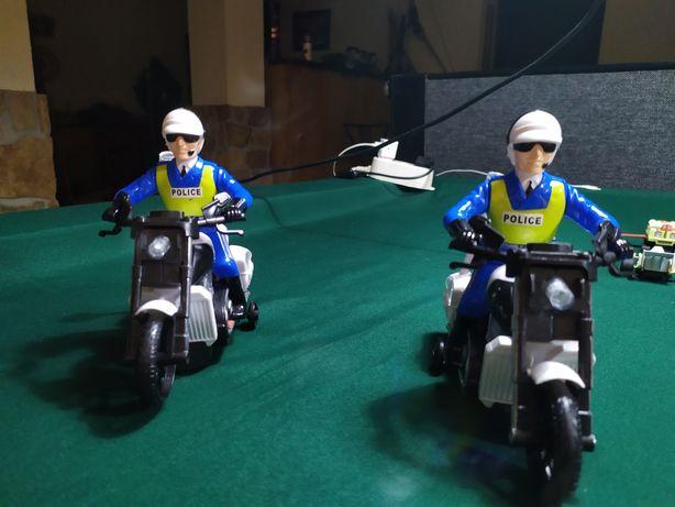 Mota polícia com luz