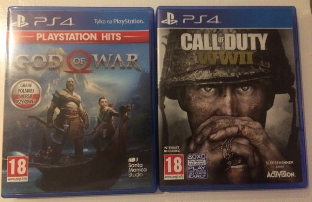 Gry: God Of War i Call Of Duty WWII PS4