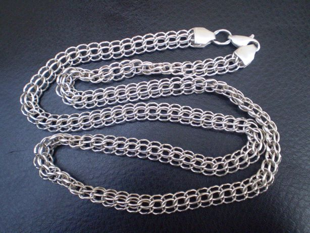 Мужская серебряная цепь 53 см 19 грамм