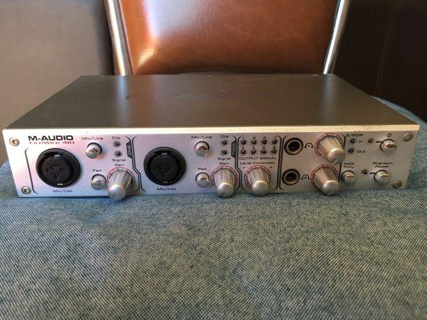 M-Audio FireWire 410 - Placa de Som Externa de Gravação Profissional