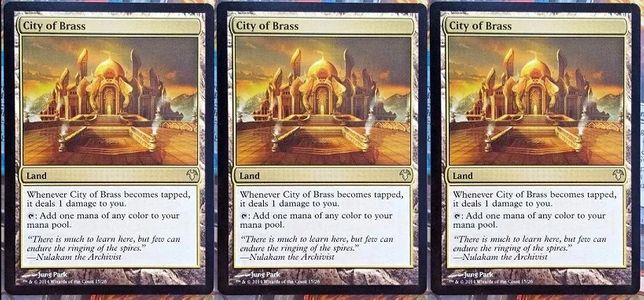 Magic the Gathering - 3x City of Brass (Modern Event Deck)