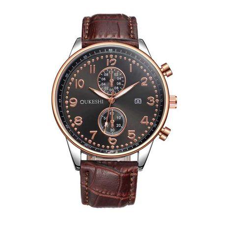 Мужские часы Oukesh кожаный ремешок