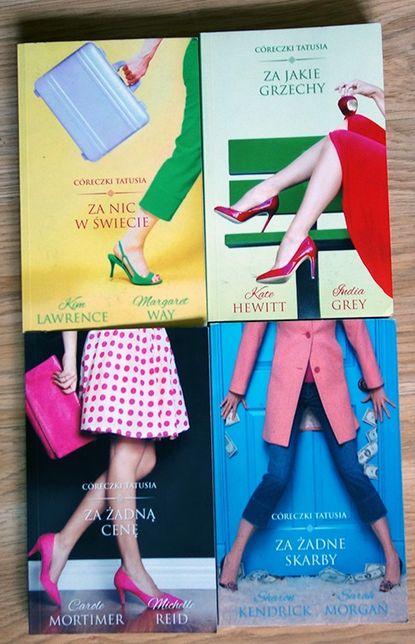 Seria: Córeczki Tatusia x4 literatura obyczajowa, romans, harlekin