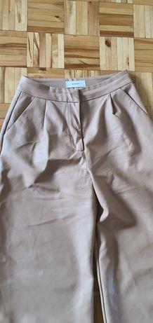 Spodnie reserved z eco skóry