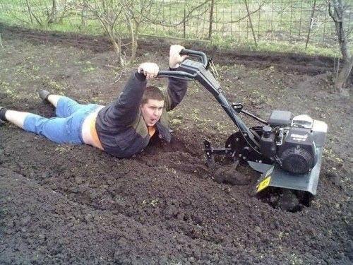 Вспашка огородов мотоблоком