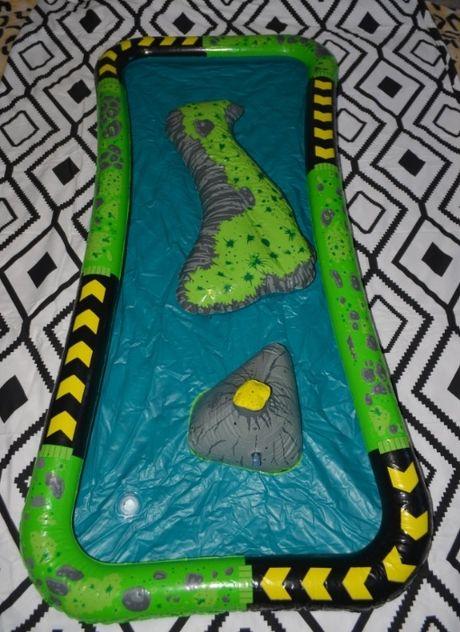 Большой надувной игровой центр песочница бассейн город динозавров