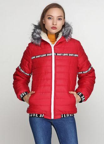 Красная Зимняя Куртка ZUBRYTSKAYA 46, 52 Размер.
