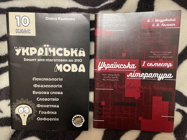 Зошити підготовка до ЗНО 10 клас,українська мова та література