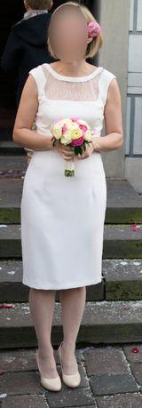 Ślub cywilny Pretty One sukienka kremowa 36