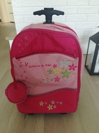 Plecak/walizka na kółkach dla dziewczynki